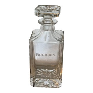 Neiman Marcus Godinger Etched Bourbon Decanter For Sale