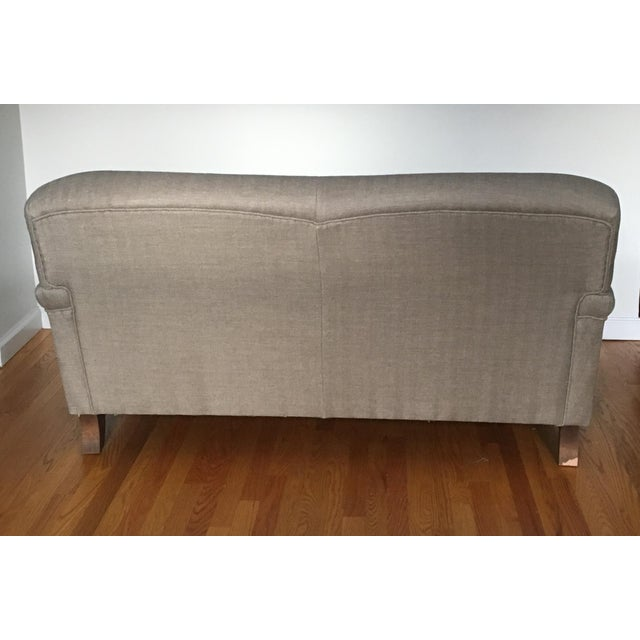 Cotton English Roll Arm Sofa For Sale - Image 7 of 13