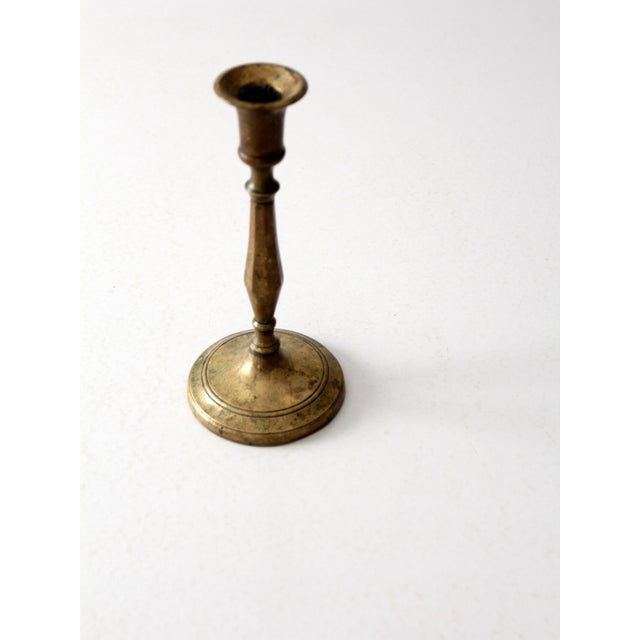 Antique Brass Candlestick Holder - Image 7 of 8