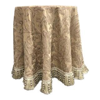 Custom Side Table & Silk Tablecloth