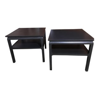 1970s Mid Century Heritage-Henredon Mahogany Side Tables - a Pair For Sale