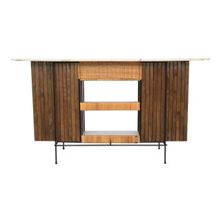 1960s Mid-Century Modern Arthur Umanoff Cocktail Bar For Sale