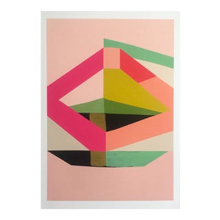 "Modernist Geometric Sostarko & Odd "" Odyssey"" Abstract Print"