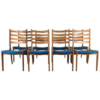 Sculptural Dining Chairs by Poul Volther Frem Rojle Denmark - Set of 8 For Sale