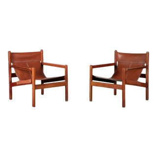 1970s Borge Mogensen Style Lounge Chairs - a Pair For Sale