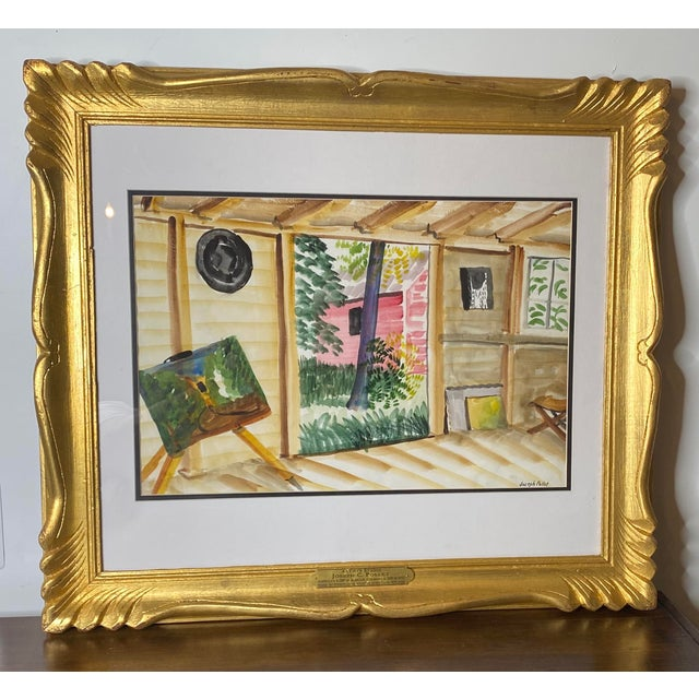 Mid 19th Century Joseph Pollet Original Framed Painting For Sale - Image 9 of 9