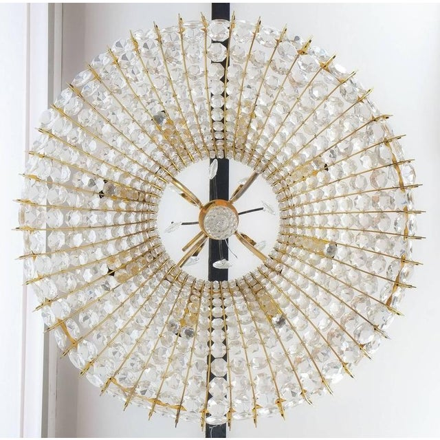 """Beautiful Austrian 26"""" chandelier from the 1960s in the style of Lobmeyr. This fixture was handcrafted and consists of..."""