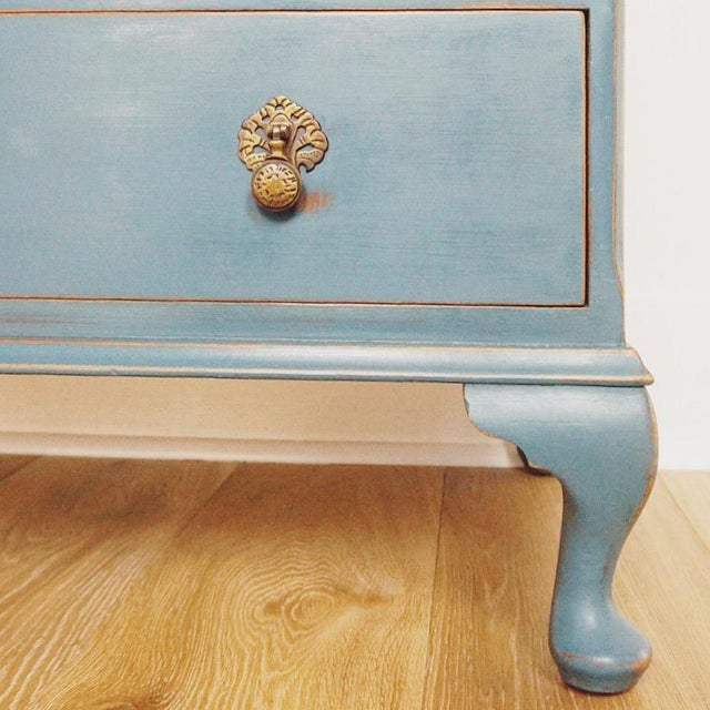 1940s 1940s Cottage Blue Gentleman's Chest For Sale - Image 5 of 8