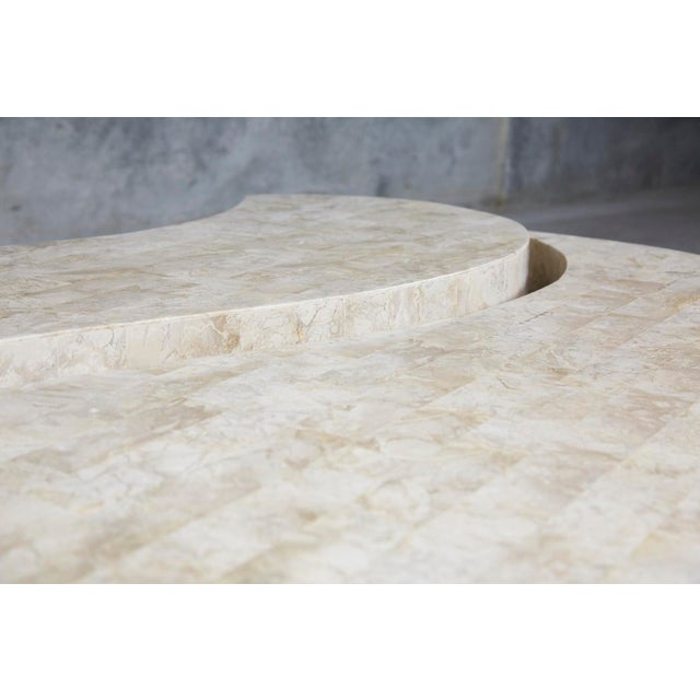 """1990s Contemporary Freeform Tessellated Stone Two Part """"Hampton"""" Coffee Table For Sale - Image 9 of 13"""