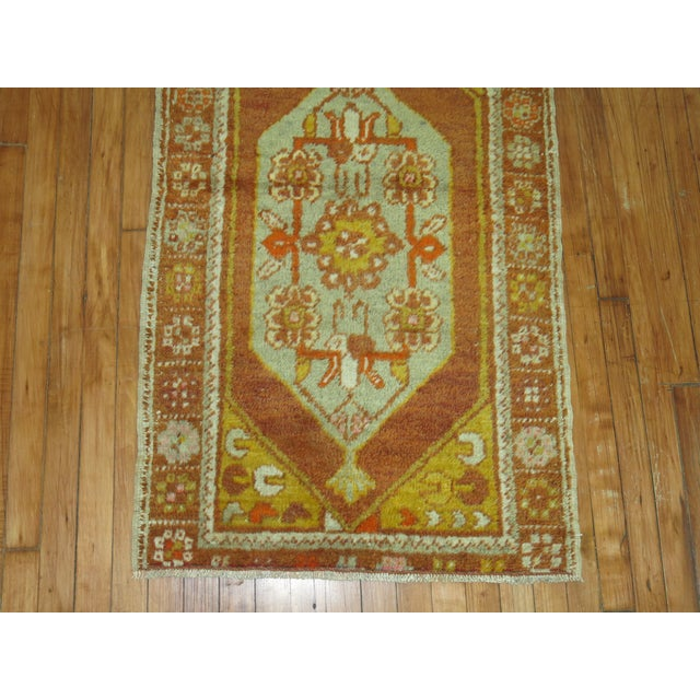Vintage Turkish Rug, 2'6'' x 4'2'' For Sale - Image 4 of 5