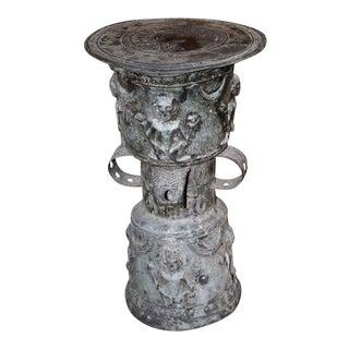 Southeast Asian Bronze Rain Drum With Figures
