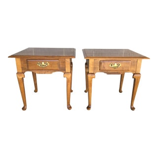 Ethan Allen Heirloom Single Drawer Side Tables (10-8035) - a Pair For Sale