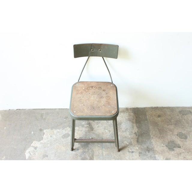 Industrial Metal Frame Chair - Image 3 of 4