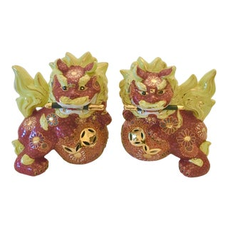 Vintage Chinese Foo Dogs - a Pair For Sale