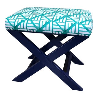 Taylor Burke Home Navy X Brooke Wright Designs Bench For Sale