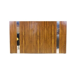 Milo Baughman for Thayer Coggin Rosewood With Chrome Trim Queen Size Headboard Preview