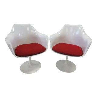 Modern Knoll Eero Saarinen Tulip Arm Chair - A Pair For Sale