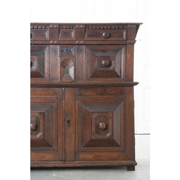 English English 17th Century Charles II Oak Chest of Drawers For Sale - Image 3 of 13