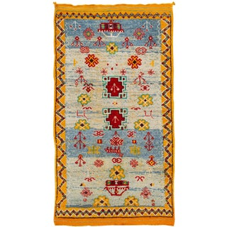 """Antique Moroccan Rug, 3'3"""" X 6'02"""" For Sale"""