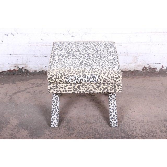 Patrick Frey X-Base Leopard Stool or Ottoman, Paris For Sale - Image 9 of 13