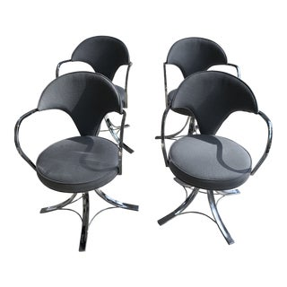 1960s Vintage Norman Cherner Style Swivel Chairs- Set of 4 For Sale