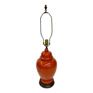 Mid-Century Modern Ginger Jar Shape Porcelain Lamp For Sale
