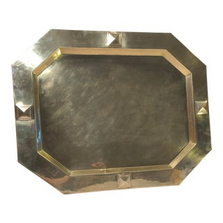 William Adams Solid Brass Serving Tray For Sale