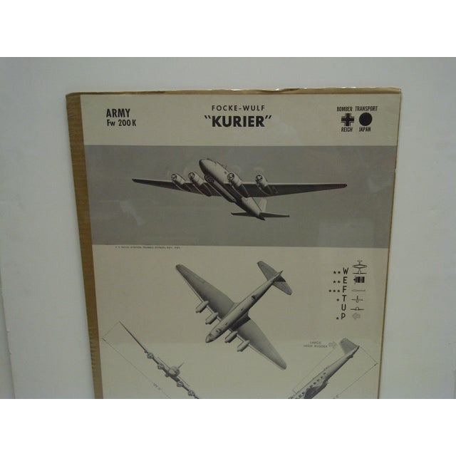 American WWII Focke Wulf Kurier Aircraft Recognition Poster For Sale - Image 3 of 4
