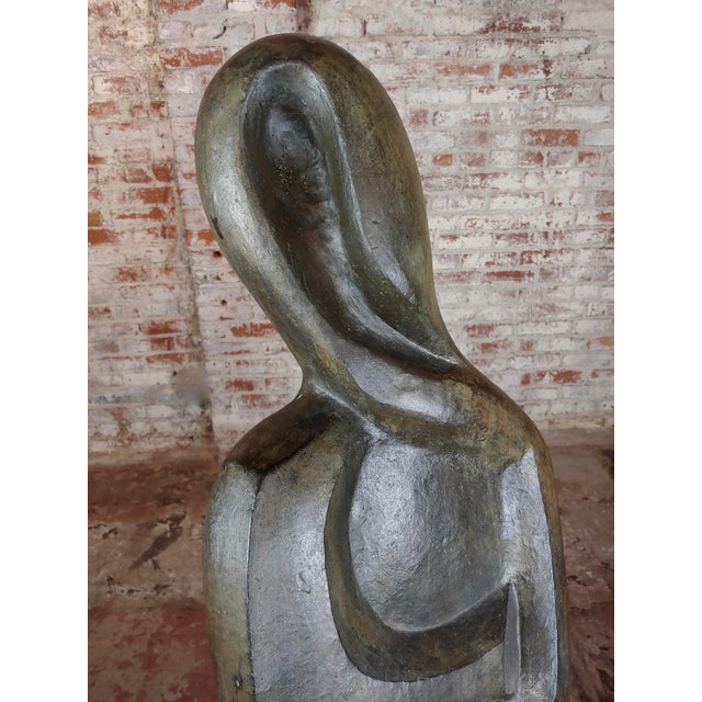 Gold Victor Salmones Abstract Female Figure Bronze Sculpture For Sale - Image 8 of 10
