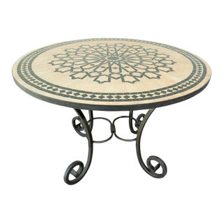 Moroccan Mosaic Tile Table in Fez Moorish Design For Sale