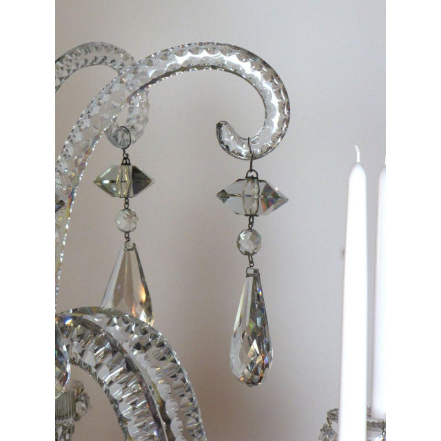 Mid 19th Century Six Light Large Crystal Chandelier For Sale - Image 5 of 8