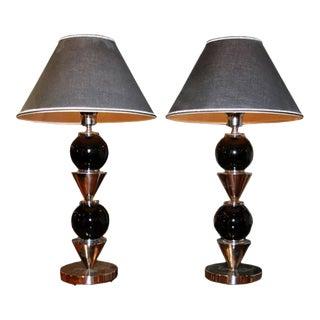 Italian Steel Ball Lamps For Sale