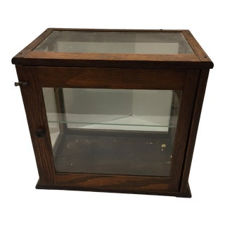 Vintage Display Case With Glass Shelf For Sale