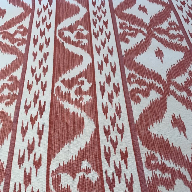 Traditional Cowtan & Tout Rapallo Coral Fabric For Sale - Image 3 of 9