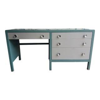 Mid-Century Modern Simmons Steel 4-Drawer Writing Desk For Sale