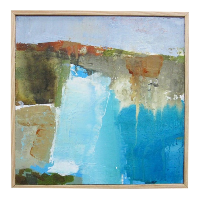 Abstract Seascape McWay Falls Big Sur California by Donna Weathers For Sale