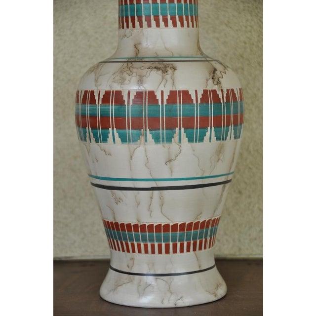 "Native American Art 18"" Tall Navajo Native American Arlene John Horsehair Pottery Vase For Sale - Image 4 of 8"
