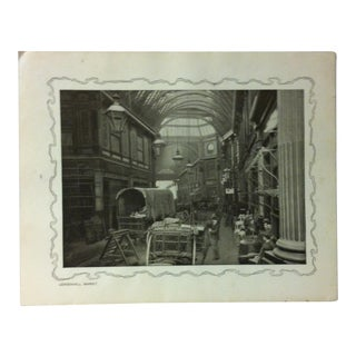 """1906 """"Leadenhall Market"""" Famous View of London Print For Sale"""