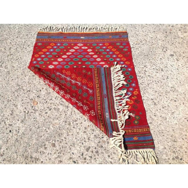 1970s Vintage 1970s Turkish Kilim Rug - 2′11″ × 3′11″ For Sale - Image 5 of 6