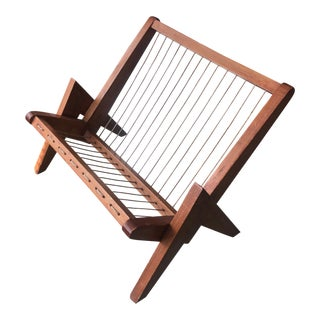 1960s In the Style of Pierre Jeanneret Magazine Rack For Sale