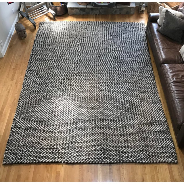Restoration Hardware Chunky Braided Twist Rug - 9′ × 12′ For Sale In Philadelphia - Image 6 of 6