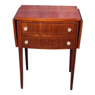 Antique 19th C .Drop-Leaf Mahogany Table For Sale