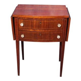 Antique 19th C .Drop-Leaf Mahogany Table