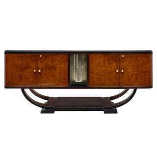 1940s Vintage Burled Buffet For Sale