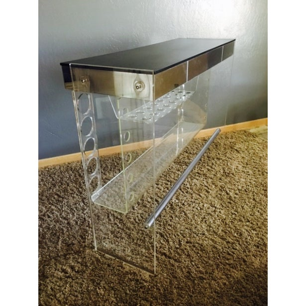 Lucite Hollywood Regency Lighted Bar Table - Image 4 of 8