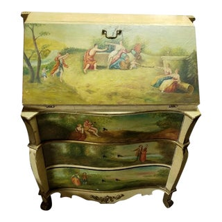 18th Century Style French Commode Scriban Writing Desk For Sale