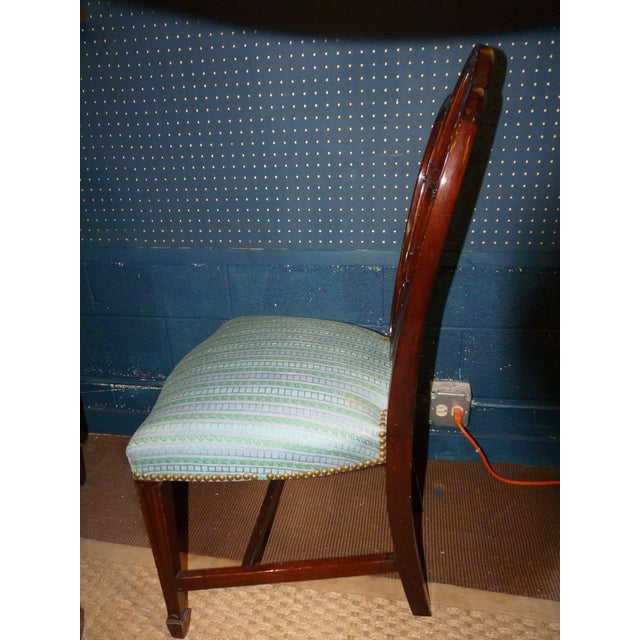 Mahogany Heart Shieldback Chairs - Set of 12 - Image 7 of 9