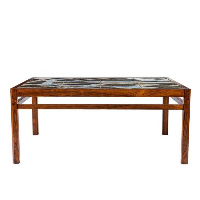 Danish Abstract Tile Coffee Table - Image 2 of 10