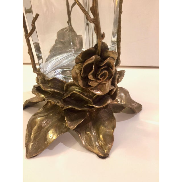 Crystal & Carved Brass Vase - Image 5 of 5