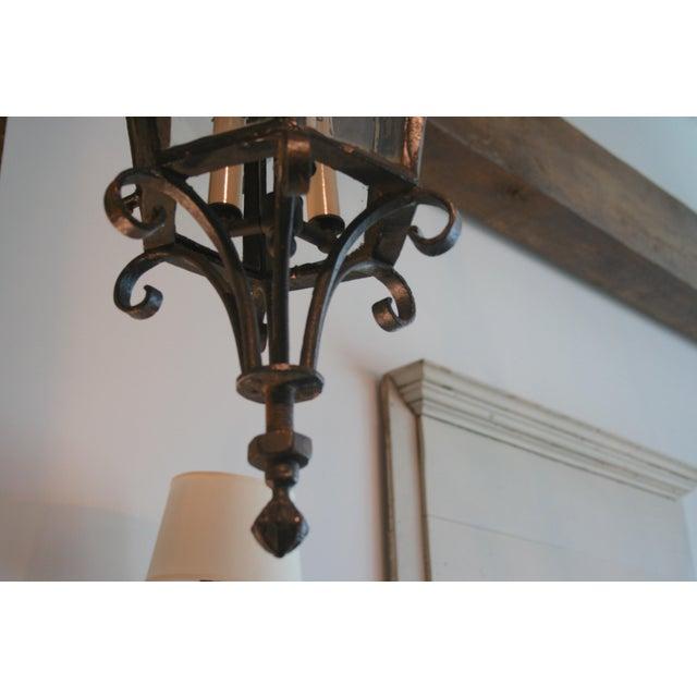 19th Century Louis XV Style Iron Lantern For Sale - Image 4 of 9